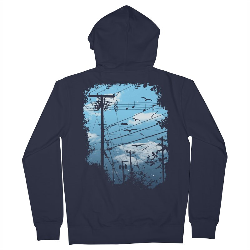 Electric Music City Men's Zip-Up Hoody by expo's Artist Shop