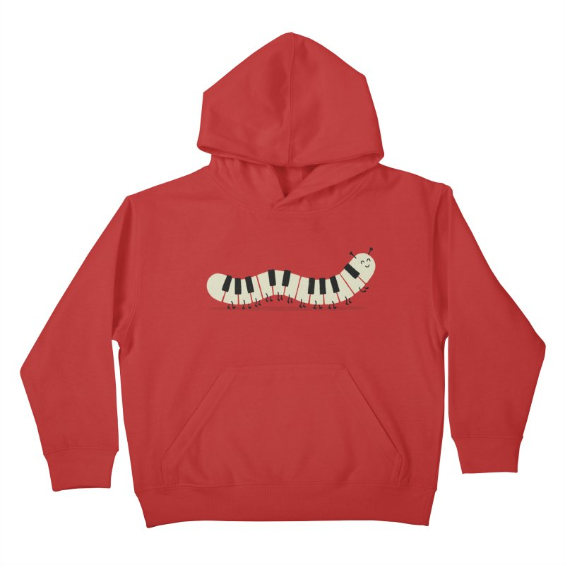 Caterpiano Kids Pullover Hoody by expo's Artist Shop
