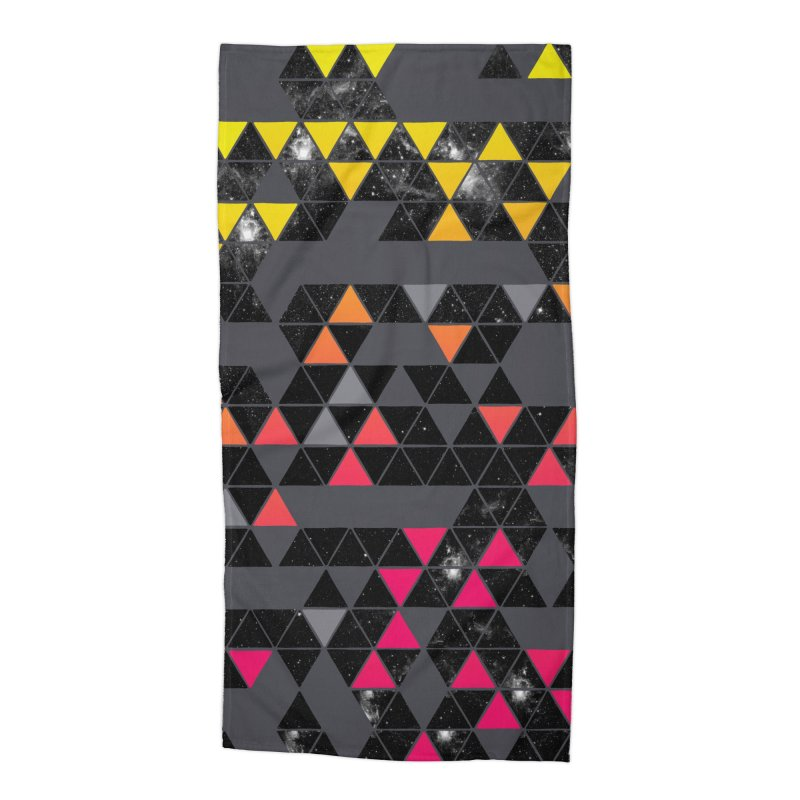 Gradient Space Accessories Beach Towel by expo's Artist Shop