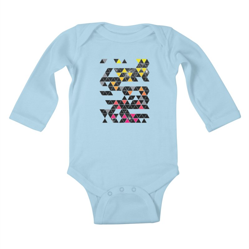Gradient Space Kids Baby Longsleeve Bodysuit by expo's Artist Shop