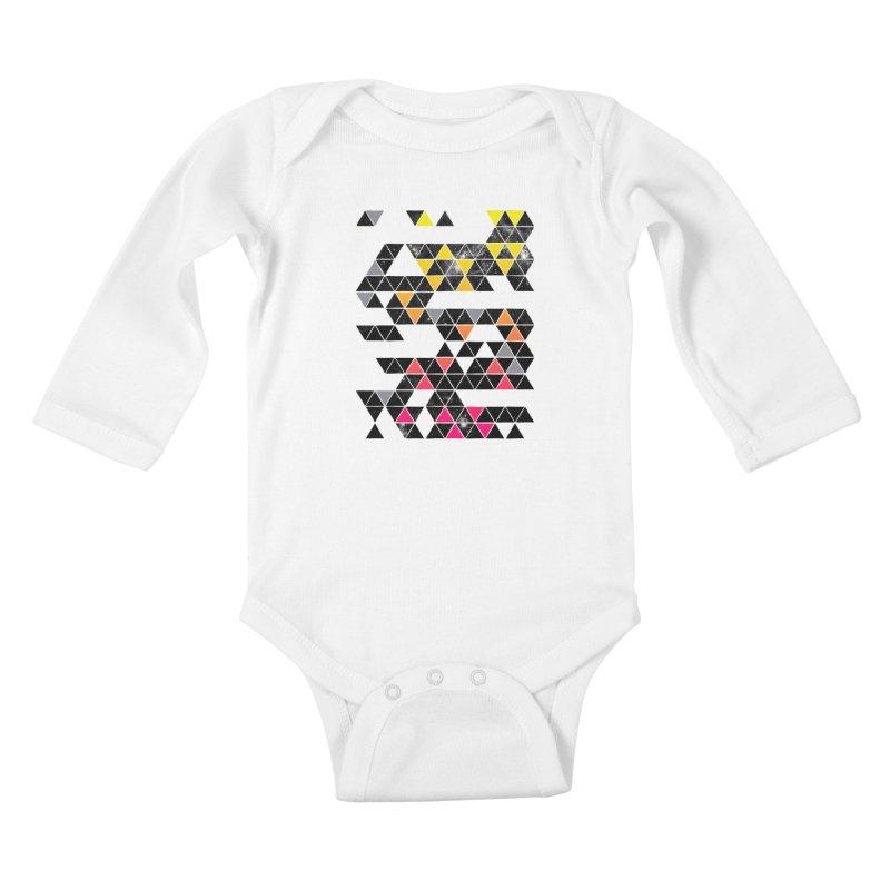 Gradient Space Kids Baby Longsleeve Bodysuit by expo's Artist Shop