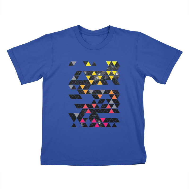 Gradient Space Kids T-Shirt by expo's Artist Shop