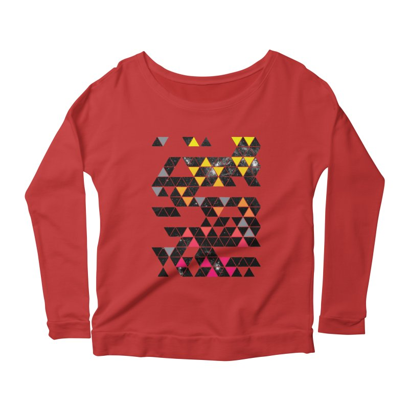 Gradient Space Women's Longsleeve Scoopneck  by expo's Artist Shop