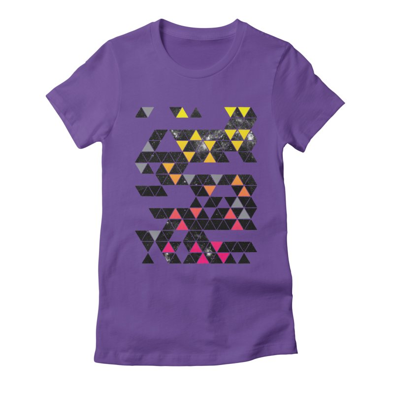 Gradient Space Women's Fitted T-Shirt by expo's Artist Shop