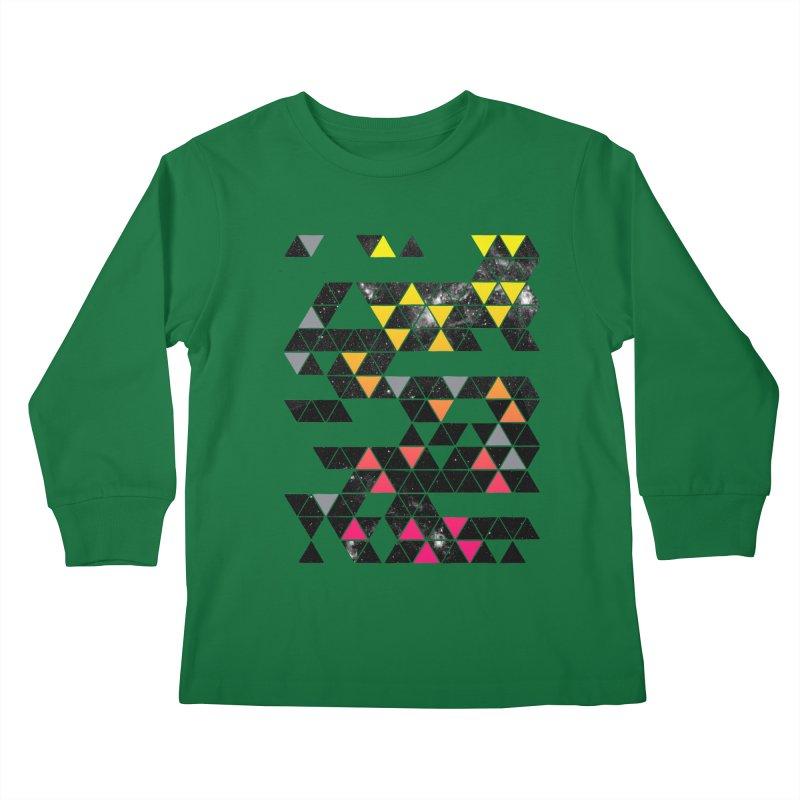 Gradient Space Kids Longsleeve T-Shirt by expo's Artist Shop