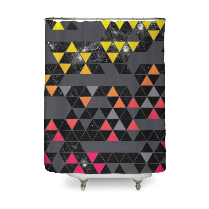 Gradient Space Home Shower Curtain by expo's Artist Shop