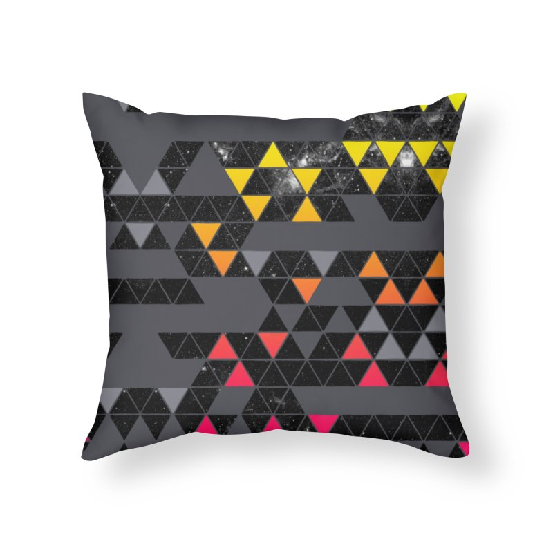 Gradient Space Home Throw Pillow by expo's Artist Shop