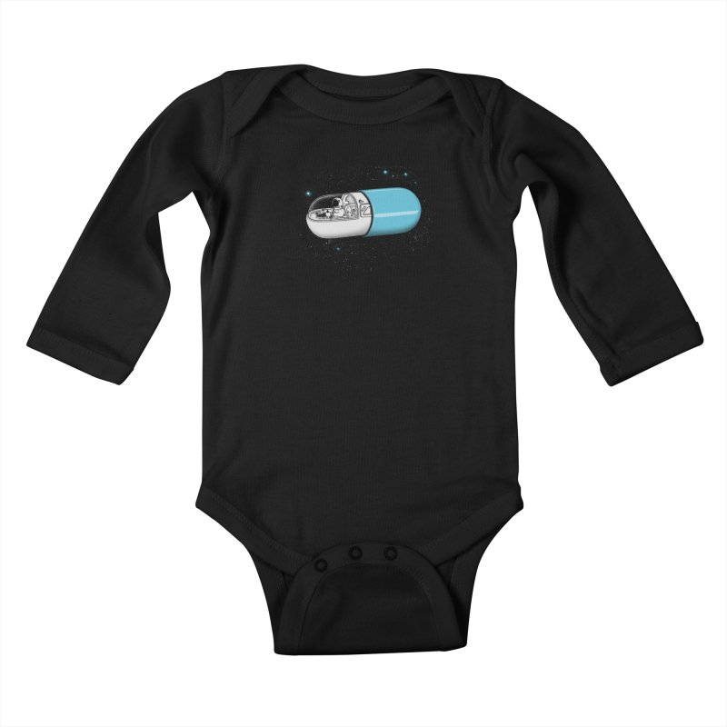 Space Capsule Kids Baby Longsleeve Bodysuit by expo's Artist Shop
