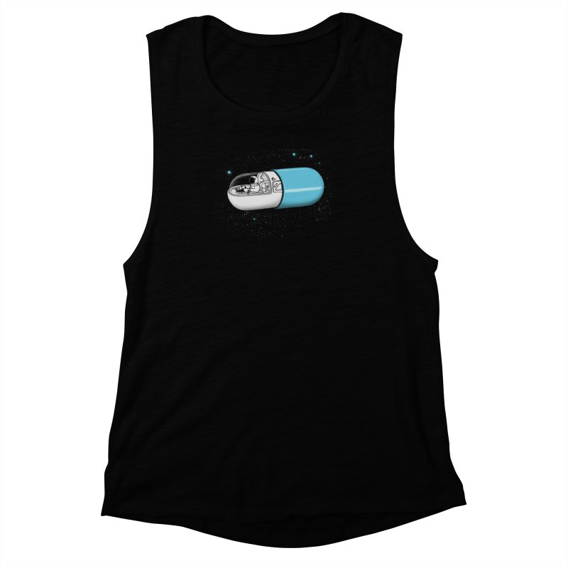 Space Capsule Women's Muscle Tank by expo's Artist Shop