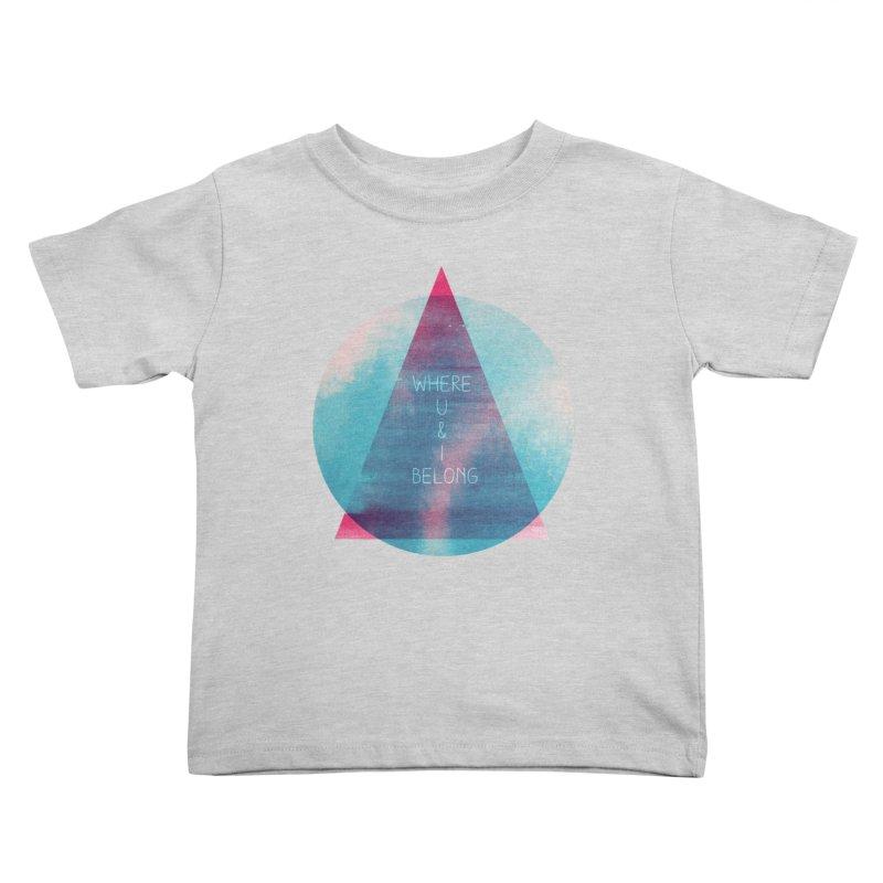 U & I Kids Toddler T-Shirt by expo's Artist Shop