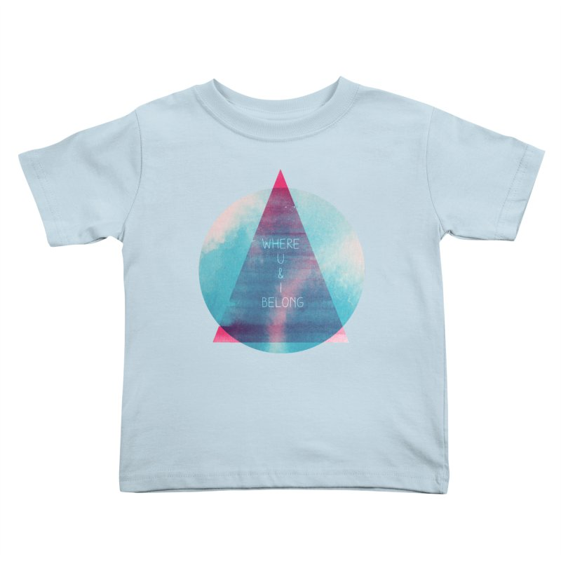 U & I Kids Toddler T-Shirt by expo's Artist Shop