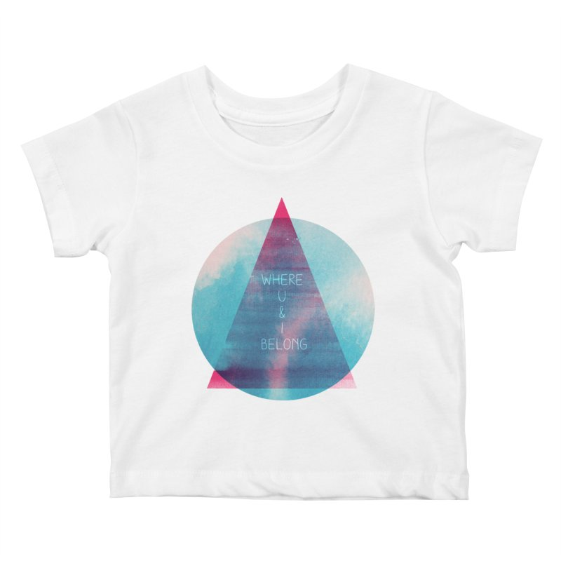 U & I Kids Baby T-Shirt by expo's Artist Shop