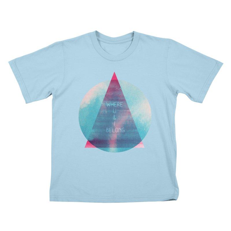 U & I Kids T-Shirt by expo's Artist Shop