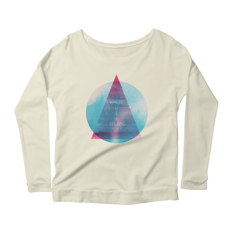 U & I Women's Longsleeve Scoopneck  by expo's Artist Shop