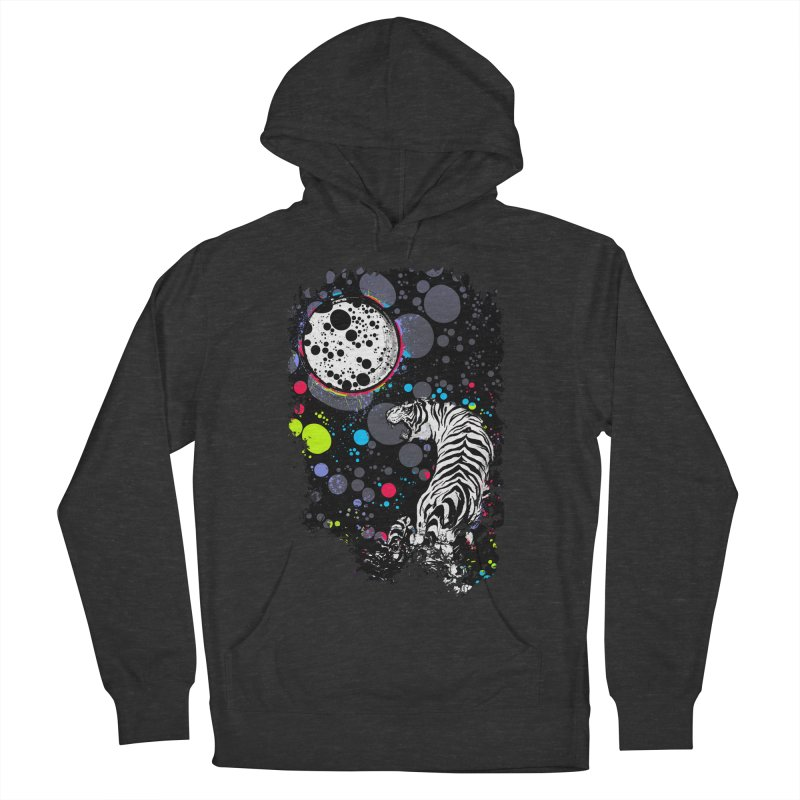 The Moon And The White Tiger Women's Pullover Hoody by expo's Artist Shop
