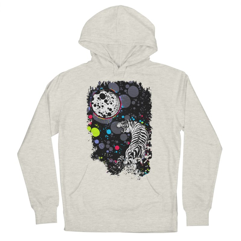 The Moon And The White Tiger Women's French Terry Pullover Hoody by expo's Artist Shop