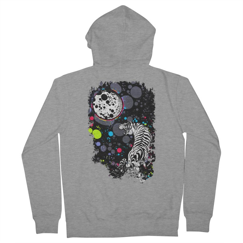 The Moon And The White Tiger Women's French Terry Zip-Up Hoody by expo's Artist Shop