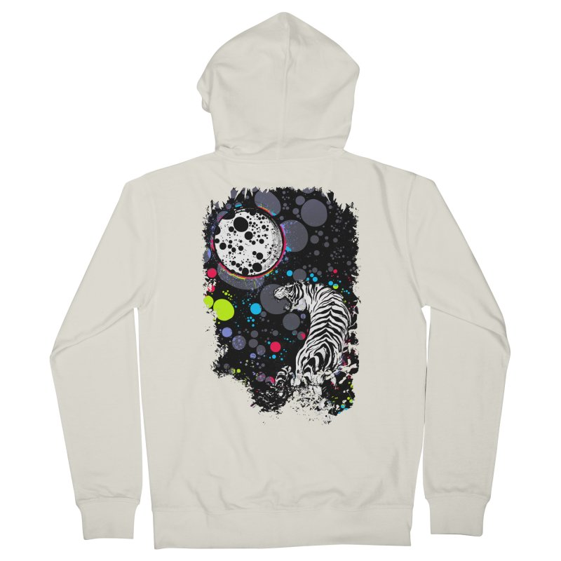 The Moon And The White Tiger Women's Zip-Up Hoody by expo's Artist Shop