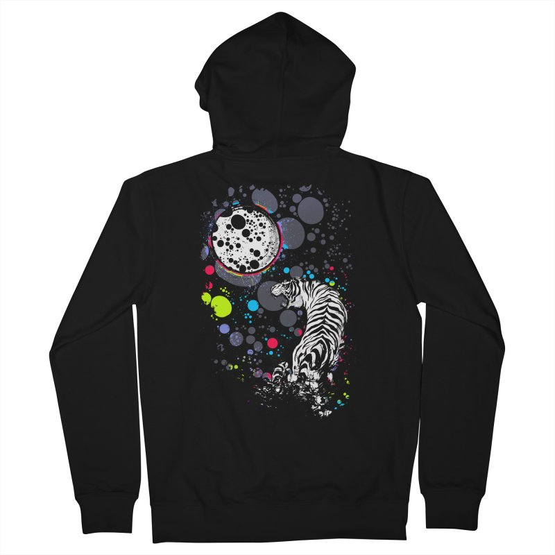 The Moon And The White Tiger Men's Zip-Up Hoody by expo's Artist Shop