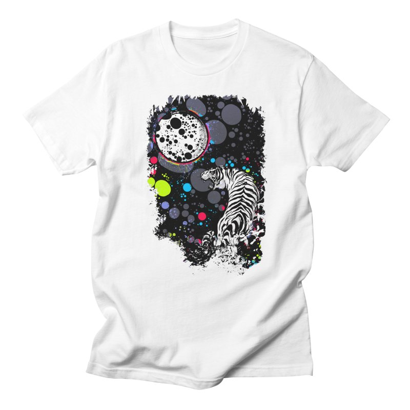 The Moon And The White Tiger Men's T-Shirt by expo's Artist Shop