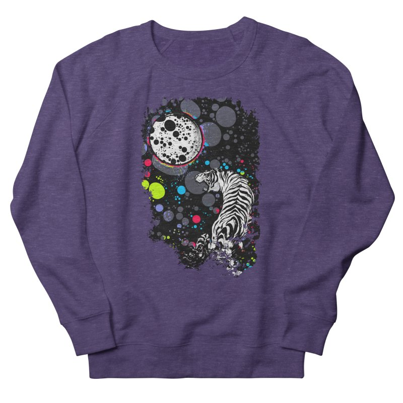 The Moon And The White Tiger Women's Sweatshirt by expo's Artist Shop