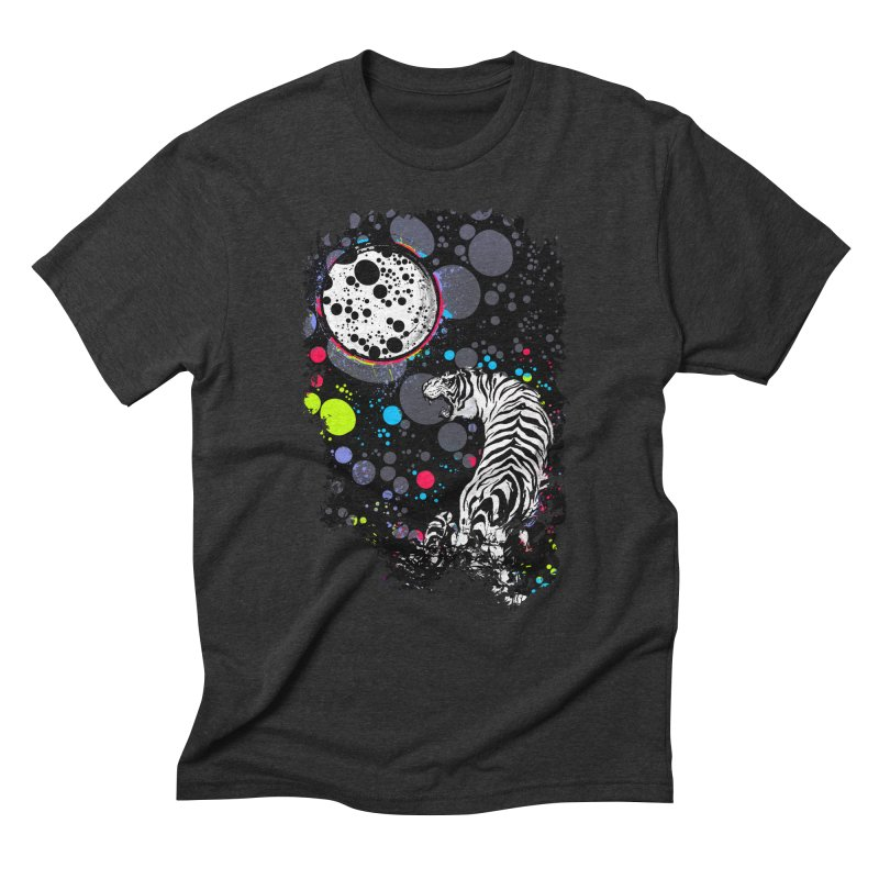 The Moon And The White Tiger Men's Triblend T-Shirt by expo's Artist Shop