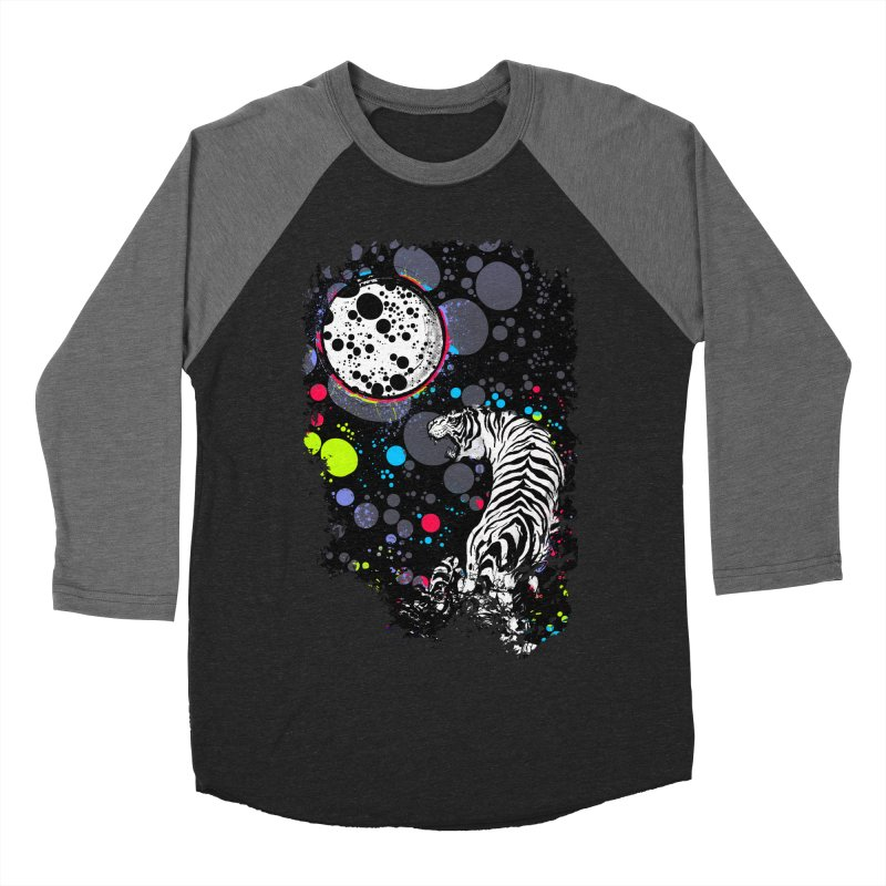 The Moon And The White Tiger Men's Baseball Triblend T-Shirt by expo's Artist Shop