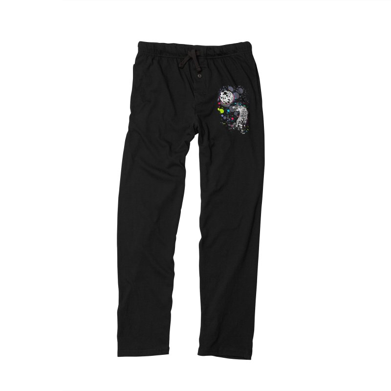 The Moon And The White Tiger Men's Lounge Pants by expo's Artist Shop