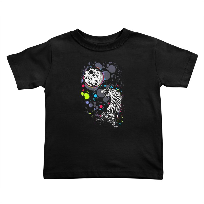 The Moon And The White Tiger Kids Toddler T-Shirt by expo's Artist Shop