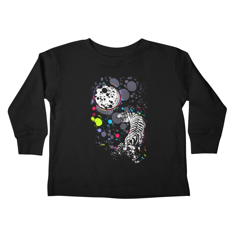The Moon And The White Tiger Kids Toddler Longsleeve T-Shirt by expo's Artist Shop