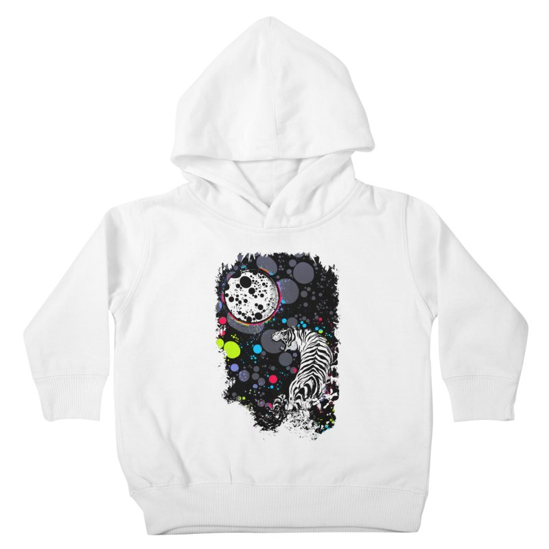 The Moon And The White Tiger Kids Toddler Pullover Hoody by expo's Artist Shop