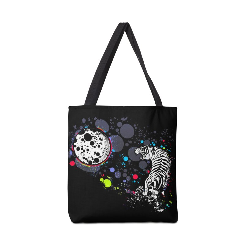 The Moon And The White Tiger Accessories Bag by expo's Artist Shop