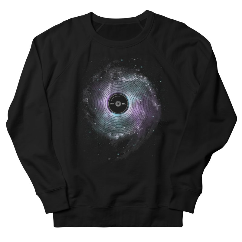 Space Music Men's French Terry Sweatshirt by expo's Artist Shop