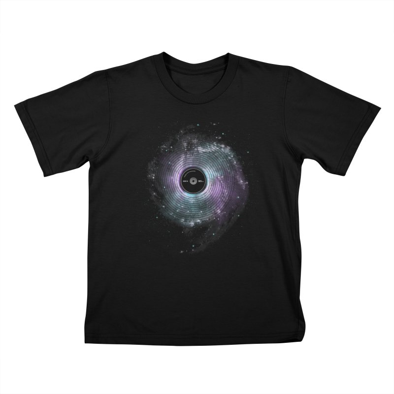 Space Music Kids T-Shirt by expo's Artist Shop