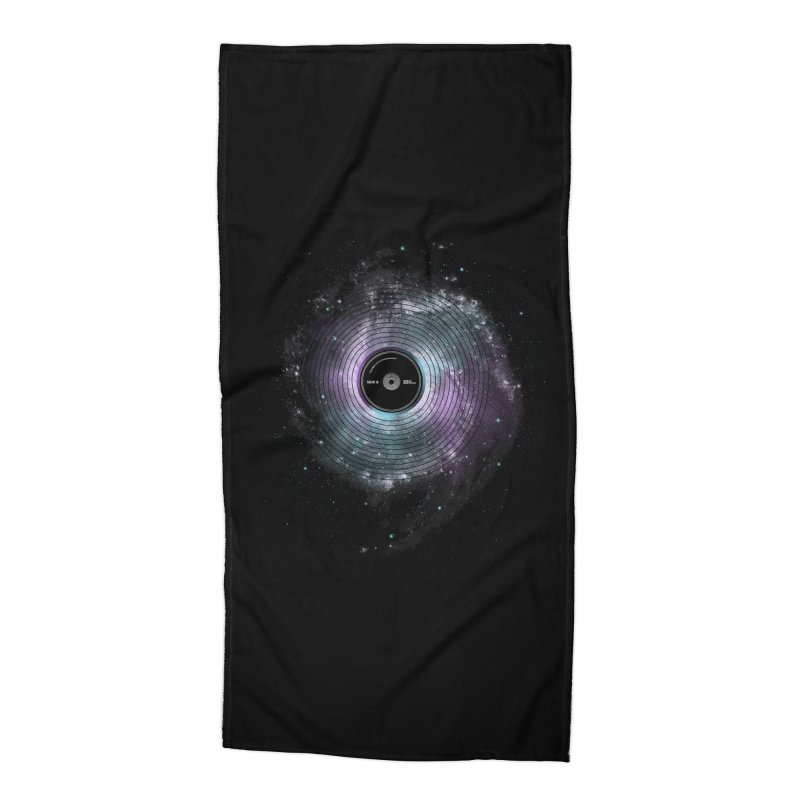 Space Music Accessories Beach Towel by expo's Artist Shop