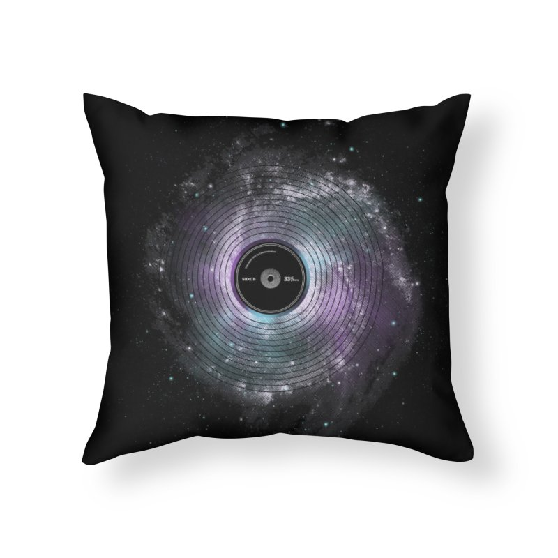 Space Music Home Throw Pillow by expo's Artist Shop