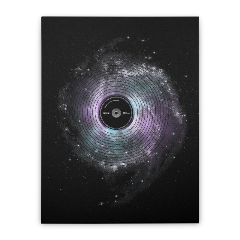 Space Music Home Stretched Canvas by expo's Artist Shop