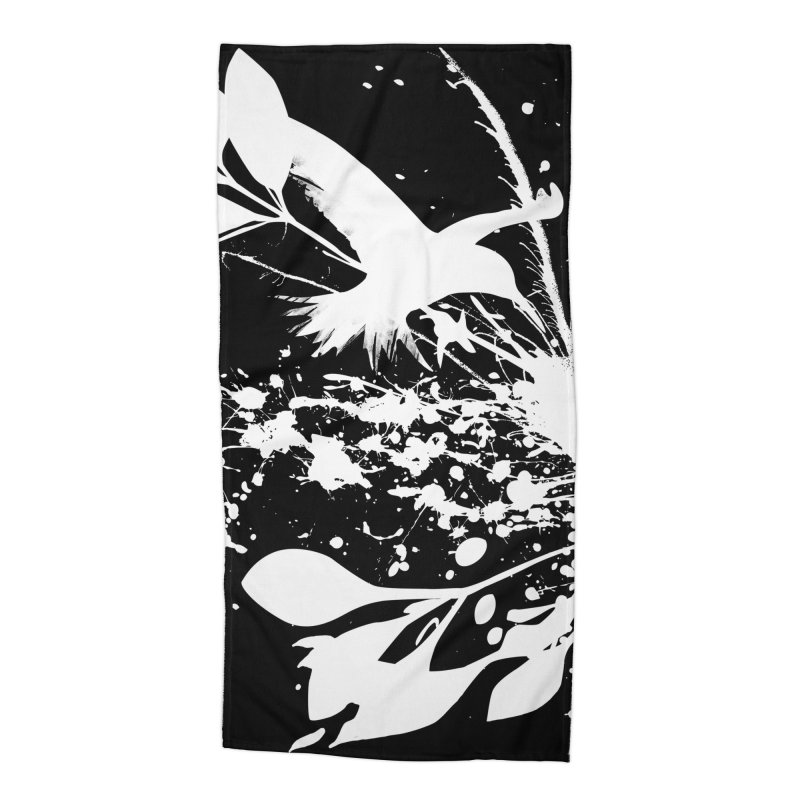 Nature's Matter [ .BLACK. ] Accessories Beach Towel by expo's Artist Shop