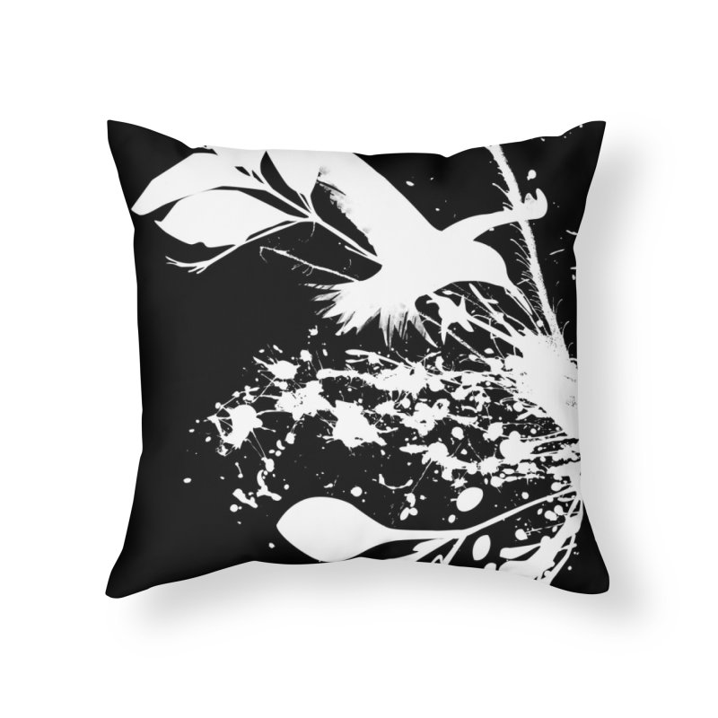 Nature's Matter [ .BLACK. ] Home Throw Pillow by expo's Artist Shop