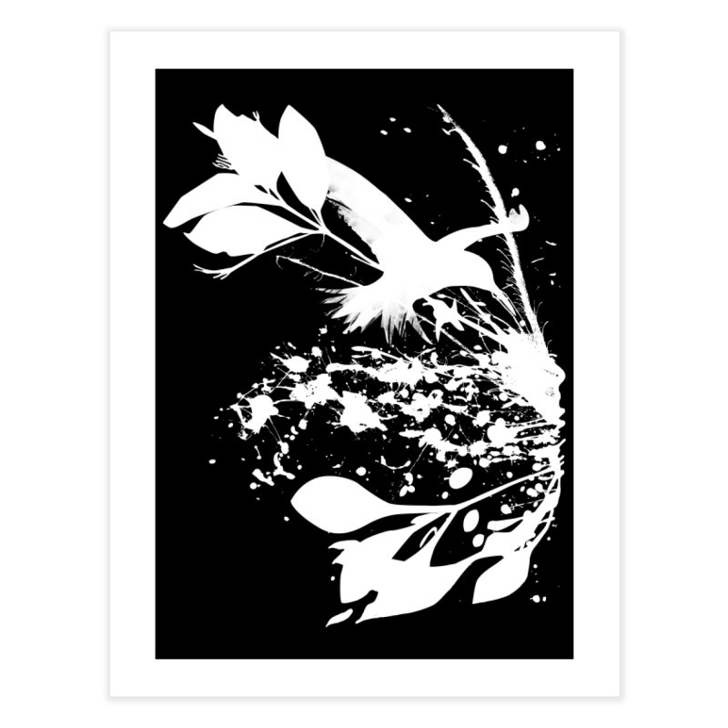Nature's Matter [ .BLACK. ] Home Fine Art Print by expo's Artist Shop