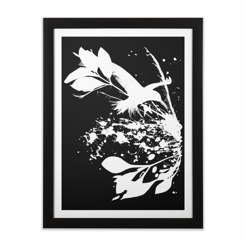 Nature's Matter [ .BLACK. ] Home Framed Fine Art Print by expo's Artist Shop