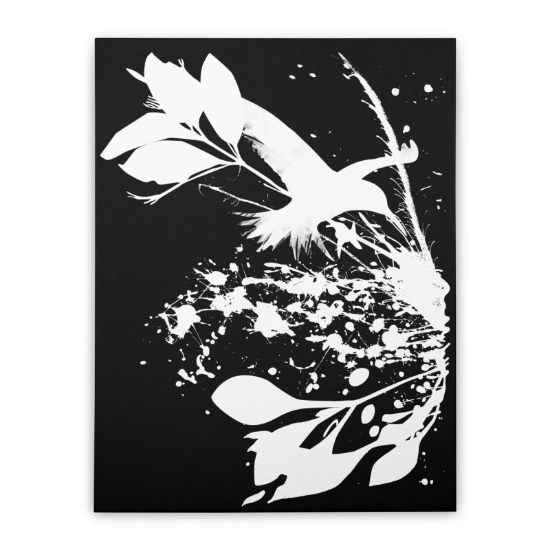 Nature's Matter [ .BLACK. ] Home Stretched Canvas by expo's Artist Shop