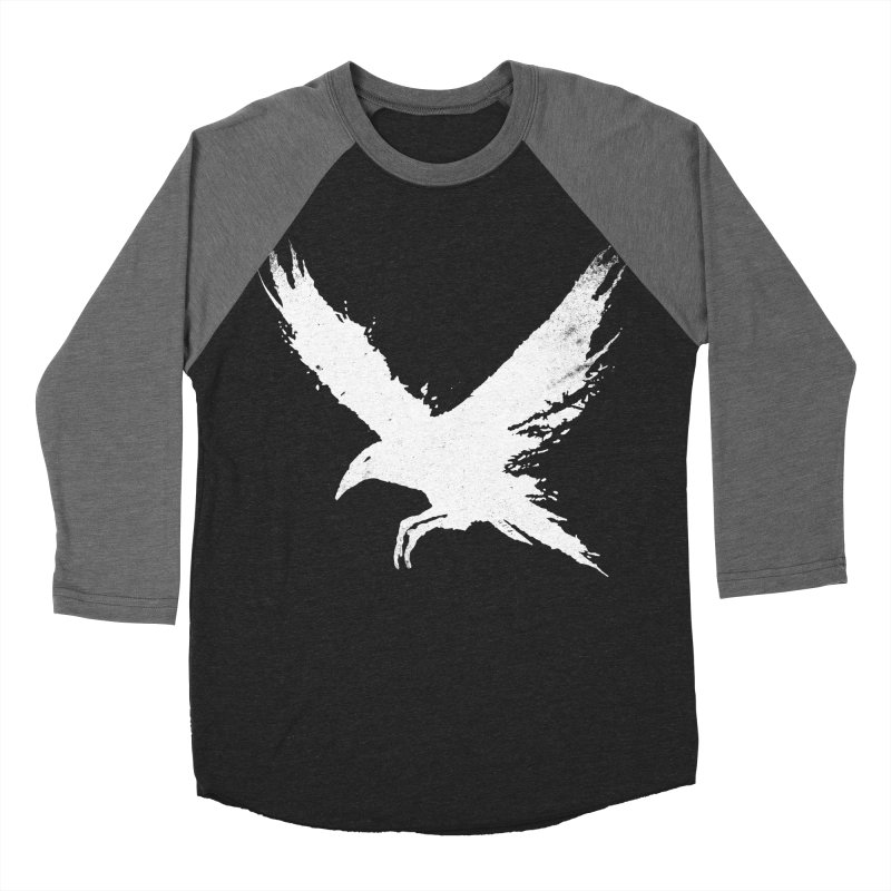 The Raven [ .BLACK. ] Men's Baseball Triblend T-Shirt by expo's Artist Shop