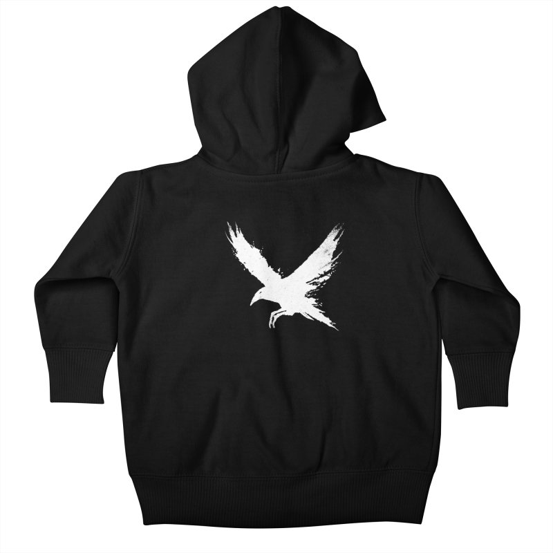 The Raven [ .BLACK. ] Kids Baby Zip-Up Hoody by expo's Artist Shop