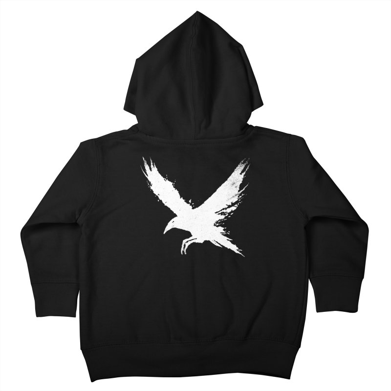 The Raven [ .BLACK. ] Kids Toddler Zip-Up Hoody by expo's Artist Shop