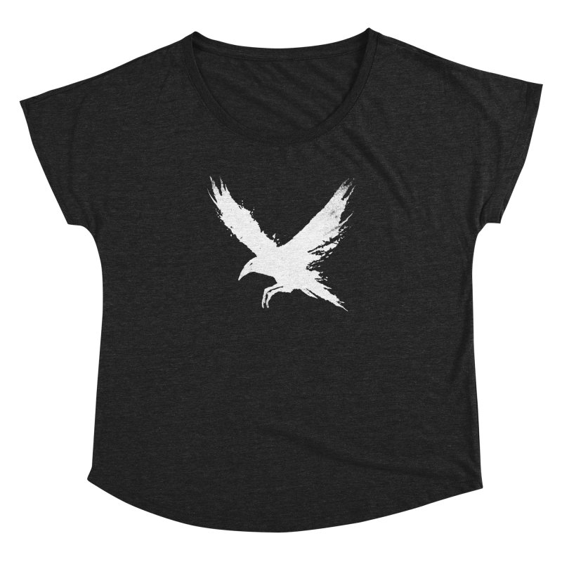 The Raven [ .BLACK. ] Women's Dolman Scoop Neck by expo's Artist Shop