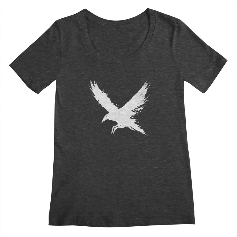 The Raven [ .BLACK. ] Women's Scoopneck by expo's Artist Shop