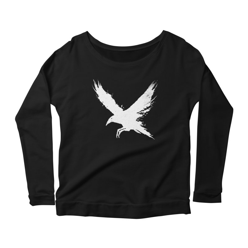The Raven [ .BLACK. ] Women's Longsleeve Scoopneck  by expo's Artist Shop