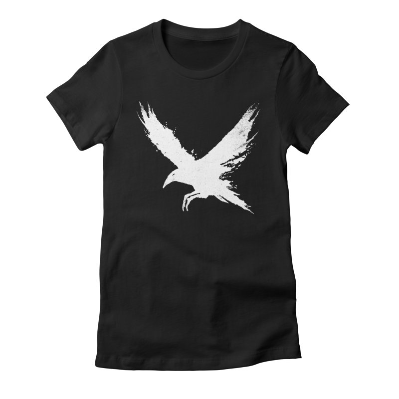 The Raven [ .BLACK. ] Women's Fitted T-Shirt by expo's Artist Shop