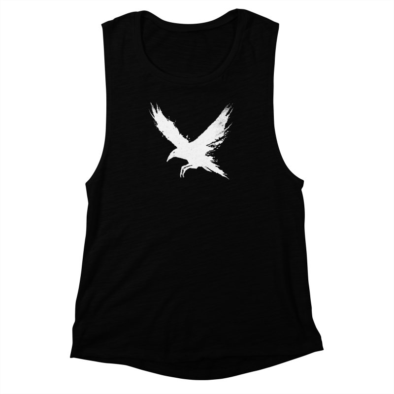 The Raven [ .BLACK. ] Women's Muscle Tank by expo's Artist Shop